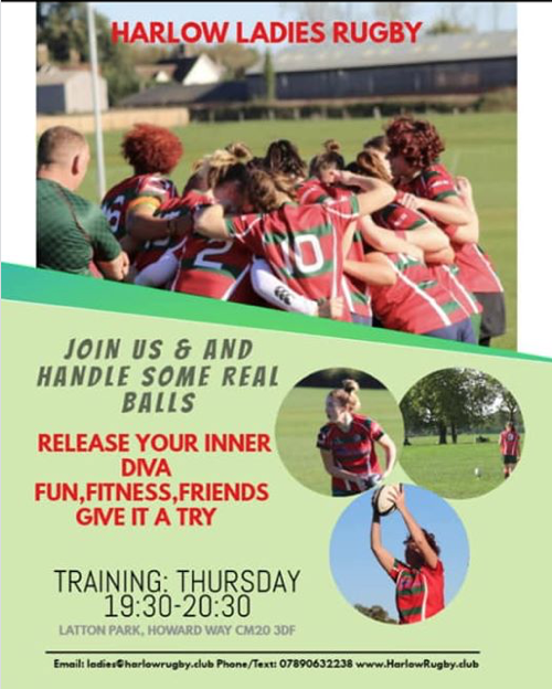 Harlow Ladies Rugby Club invite you to join