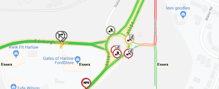 Roadworks in and near Harlow: Mon Aug 19th to Sun Aug 25th
