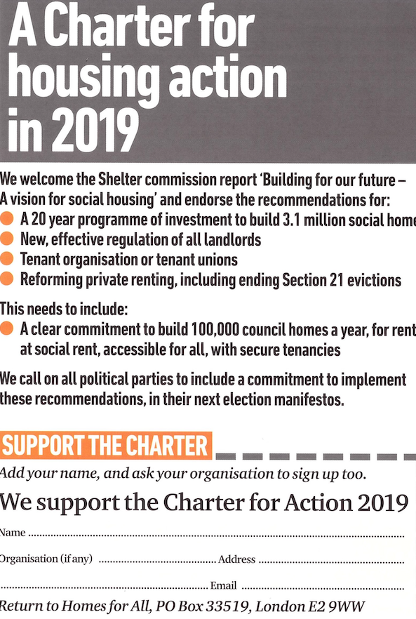 Meeting set to launch Homes for All Charter