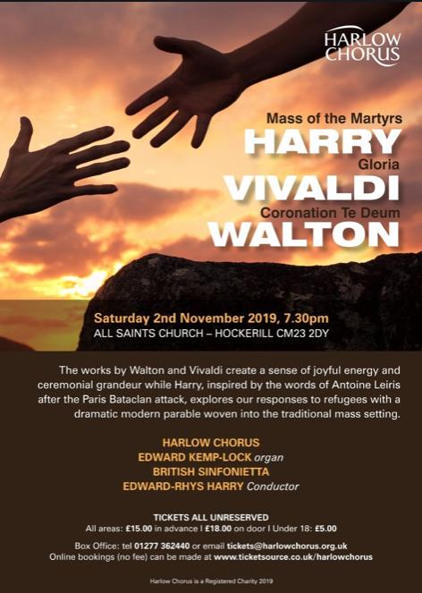 Harlow Chorus set to play Walton
