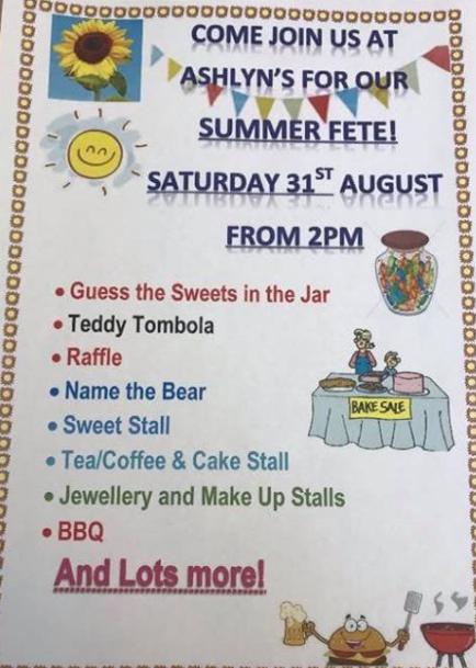 Ashlyns Care Home to host Summer Fete