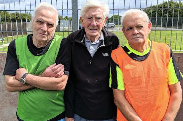 Harlow footballers with two thousand years between them set attempt world record