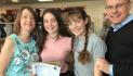 Students and staff celebrate at Burnt Mill Academy as the summer's GCSE results released.