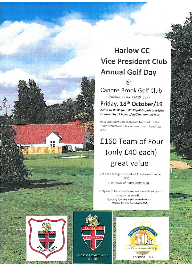 Harlow CC Vice Presidents Day at Canons Brook Golf Club