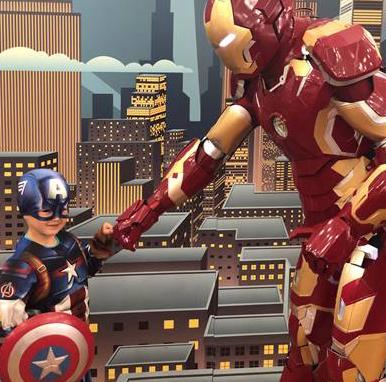 Super heroes visit the Harvey Centre