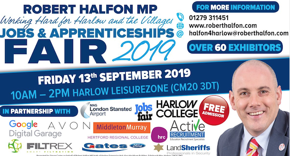 Harlow MP Robert Halfon set to host Jobs Fair