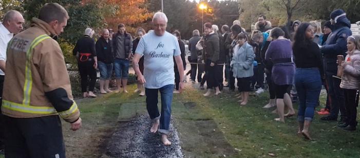 St Clare Hospice charity Autumn Firewalk returns