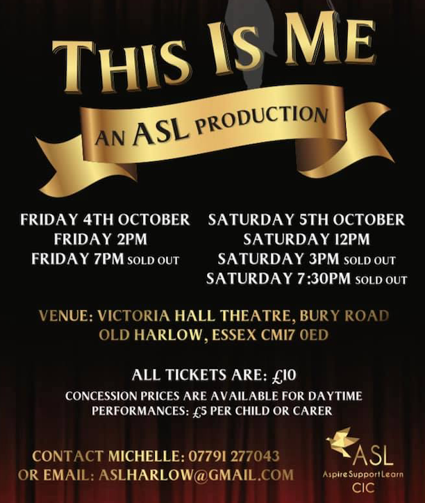 ASL present This Is Me at Victoria Hall Theatre