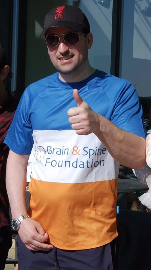 David's charity walk success
