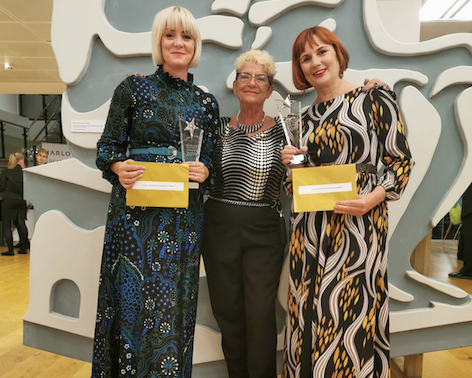 St Clare Hospice specialist charity shop, Scarlet Vintage and Retro scoop top awards
