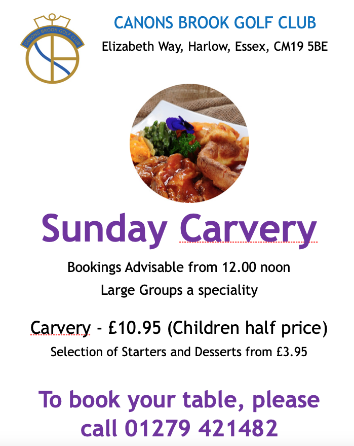 Sunday Carvery at Canons Brook Golf Club