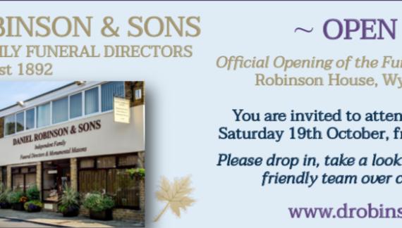 Harlow Funeral Directors Daniel Robinson to host Open Day
