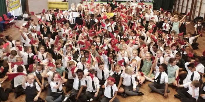 Holy Cross pupils take part in Mental Health Dance Challenge for Sky TV