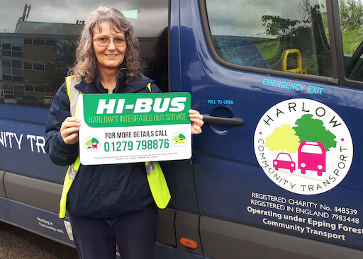 Pre-bookable community bus service proving to be great success in Harlow