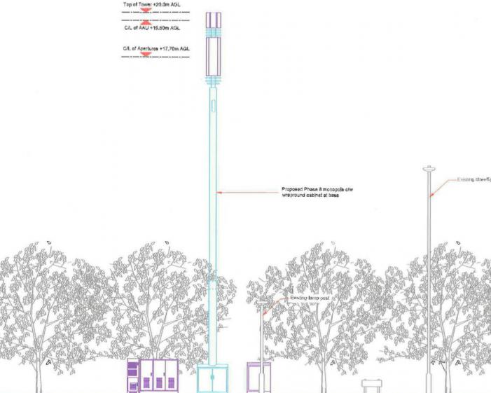 Plans for large telecommunications mast near Bush Fair