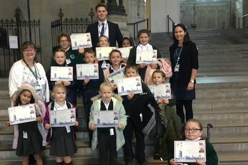 Cooks Spinney's young leaders go to Houses of Parliament