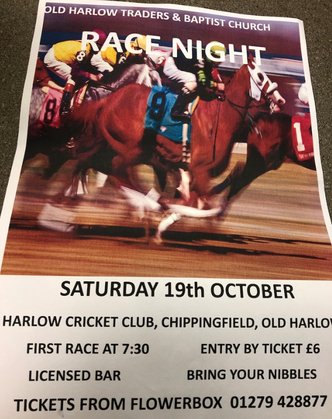 Old Harlow Traders host Race Night