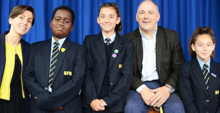 Harlow's newest secondary school praised by town's MP during visit.