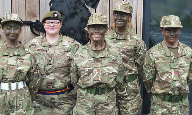 Attention!  Burnt Mill Academy students take up course in army leadership