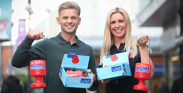 Jeff Brazier joins forces with Poppy Collectors to launch The Royal British Legion's Poppy Appeal