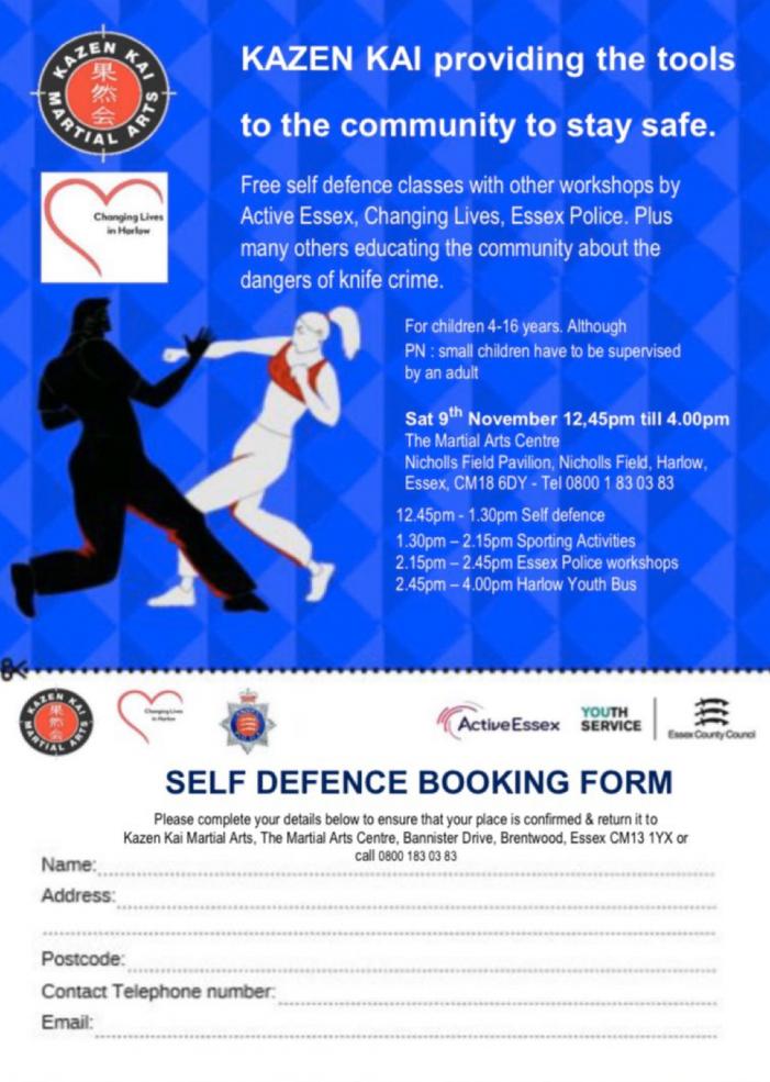 Free self-defence classes with Kazen Kai