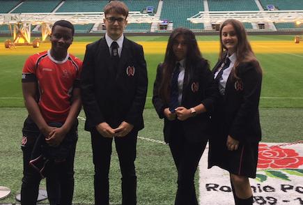 Burnt Mill students design new rugby kit at Twickenham