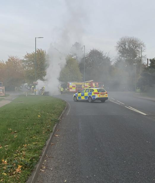 Travel Alert: Edinburgh Way closed due to vehicle fire