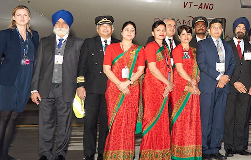 Bollywood comes to London Stansted as airport celebrates first long-haul flight to India