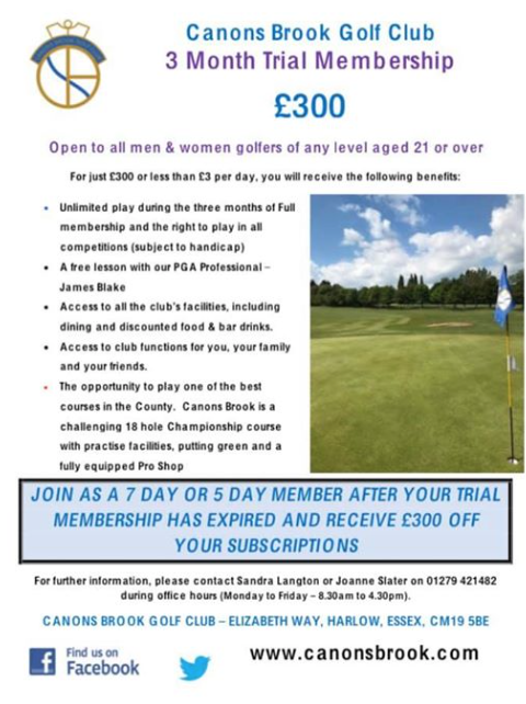 Canons Brook Golf Club membership offer