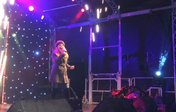 Harlow panto star wows the crowd at Harlow Firework Night