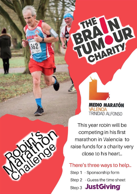 Please sponsor kind-hearted Robin as he undertakes his first marathon