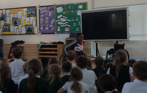 Highly respected Paralympian Visits Purford Green School