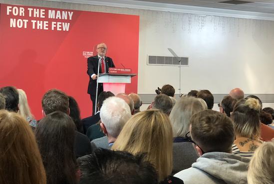 Labour leader Jeremy Corbyn makes keynote speech on Brexit in Harlow