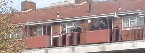 Several police officers raid house in Little Grove Field