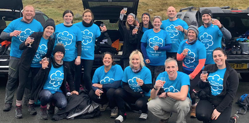 Harlow fitness fanatics take on Snowdon for St Clare Hospice