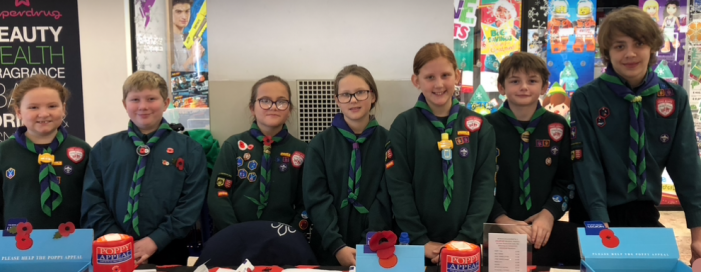 Harlow Scouts do their bit for British Legion Poppy Appeal
