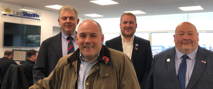Security Minster Brandon Lewis visits Land Sheriffs in Harlow (and reflects on the first week of campaigning)