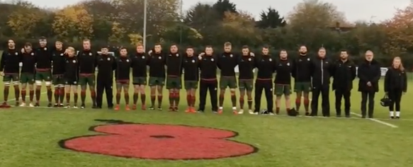 Harlow Rugby Club pays its respects to the fallen