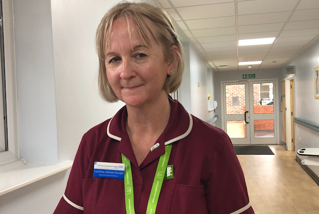 Dedicated nurse commended for reaching finals of prestigious awards