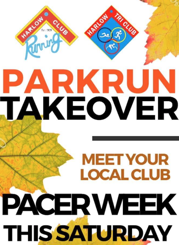 Come and find out more about Harlow Running Club at the Harlow parkrun on Saturday