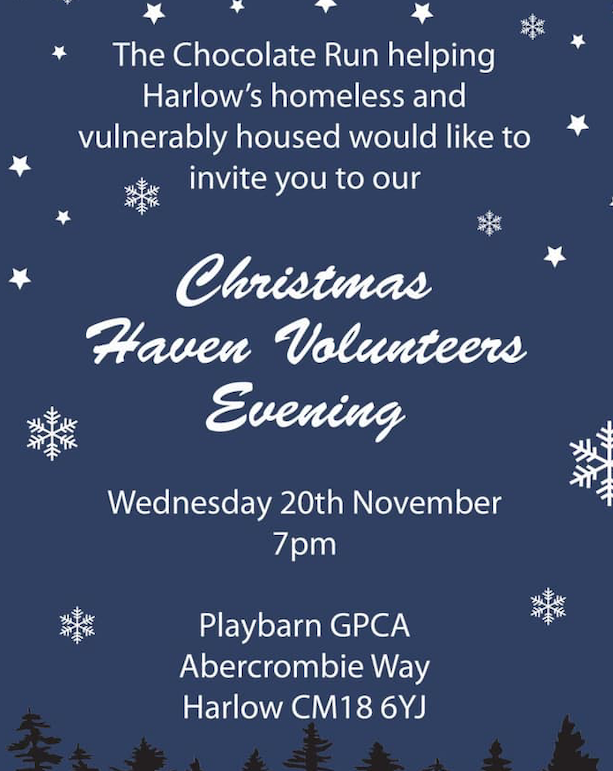 Harlow Chocolate Run: Come and find out about volunteering at Christmas