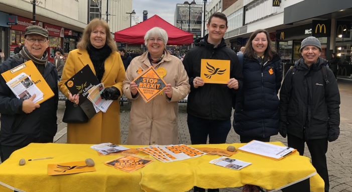 Harlow Lib Dems campaign in town centre