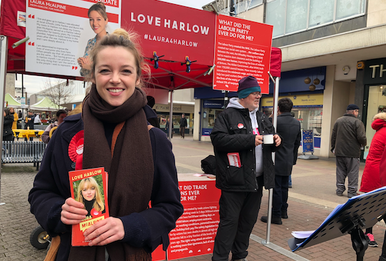 Harlow Labour's Laura McAlpine is in determined mood as campaign hots up