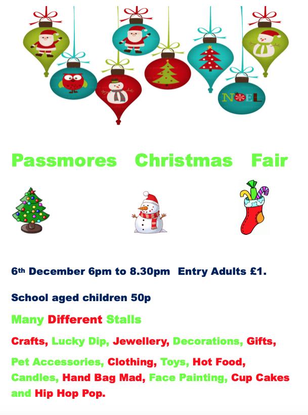 Passmores to host Christmas Fair