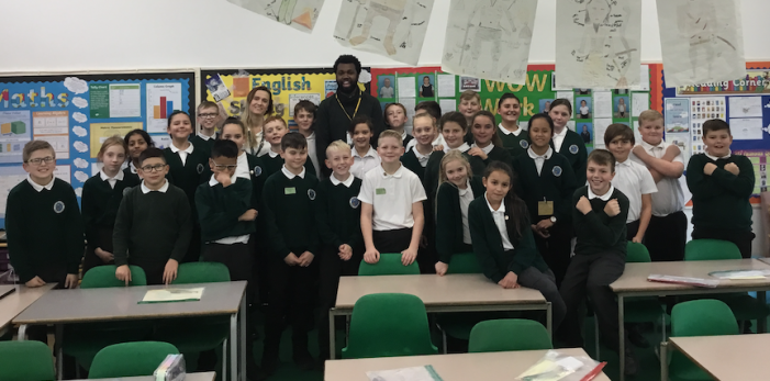 Rapper inspires poetry writing at Cooks Spinney