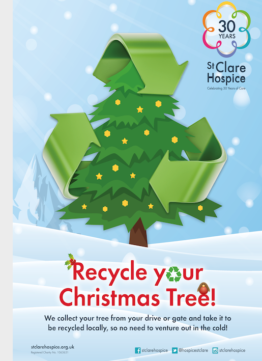 Recycle your Christmas tree with St Clare Hospice this January