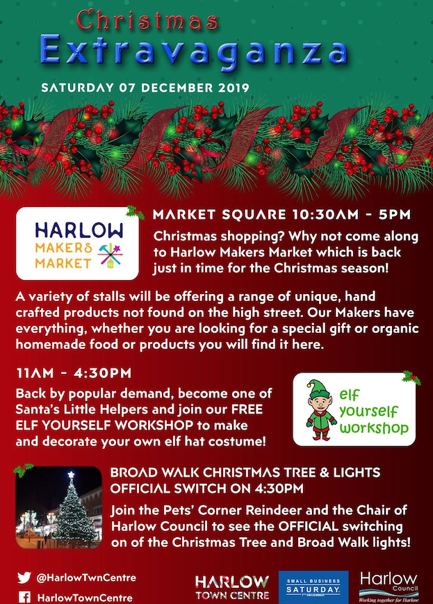 Harlow Town Centre looks forward to Christmas lights switch on