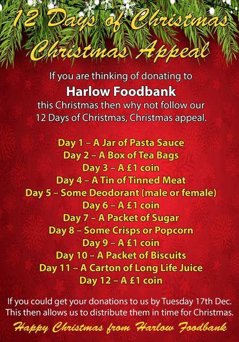 Harlow Foodbank needs you in December