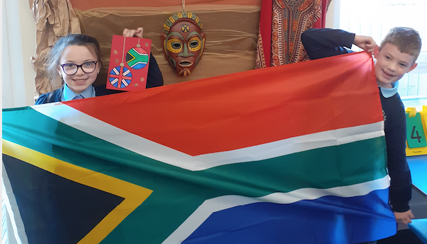 Children in South Africa are helping pupils in Harlow to learn about the wider world.