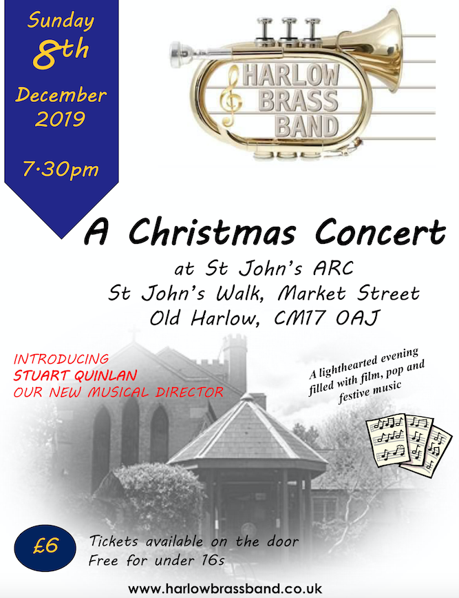 Harlow Brass Band set to hold Christmas Concert